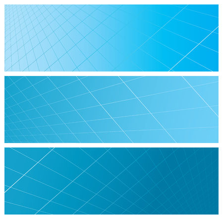 abstract grid banners, vector illustration Stock Vector - 4357201