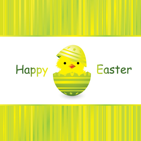easter card with a hatching chick, vector illustration Stock Vector - 4357204