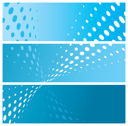 abstract halftone banners, vector illustration Vector