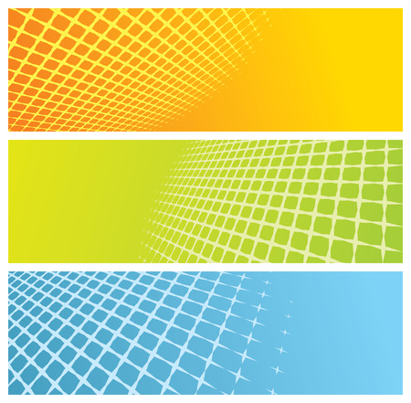 abstract grid banners, vector illustration Illustration