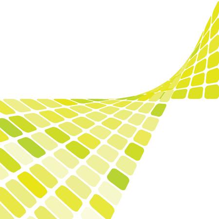 sfondo verde mosaico con copia spazio, illustrazione vettoriale