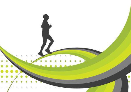 runner, vector illustration Stock Vector - 4593605