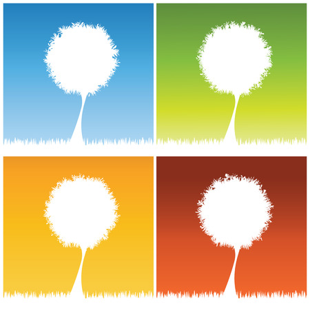 abstract tree background, vector illustration Vector