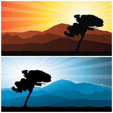 landscape, vector illustration Vector
