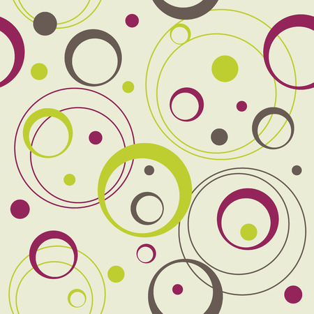 seamless retro pattern with circles and dots, vector illustration Stock Vector - 4669873