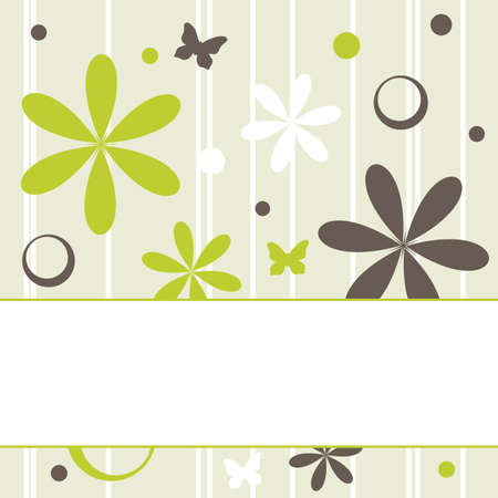 floral retro background with copy space, vector illustration Vector