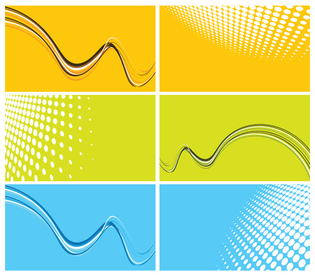 set of elegant business cards, vector illustration Vector