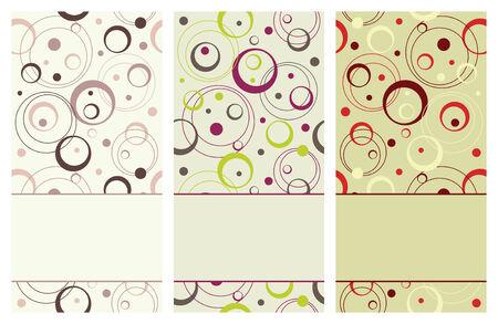 set of vertical retro banners, vector illustration Vector