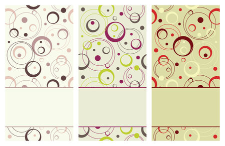 pastel tone: set of vertical retro banners, vector illustration