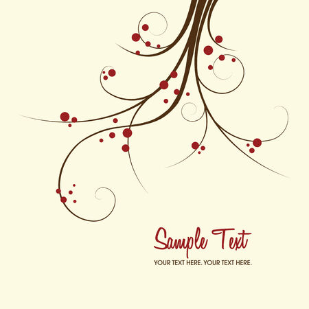 floral vector: floral background with copy space, vector illustration