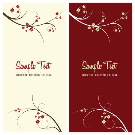 red swirl: floral background con copia spazio, illustrazione vettoriale