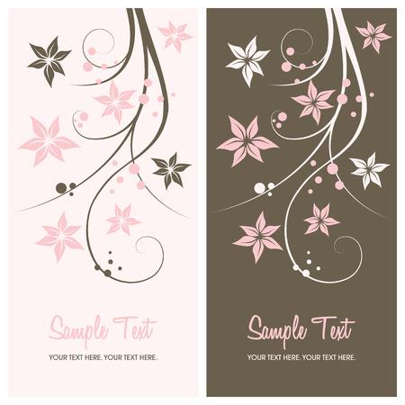 swirl backgrounds: floral background con copia spazio, illustrazione vettoriale