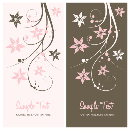 floral background with copy space, vector illustration