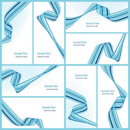 reeks abstracte golvende achtergronden, vector illustration Stockfoto - 5034140