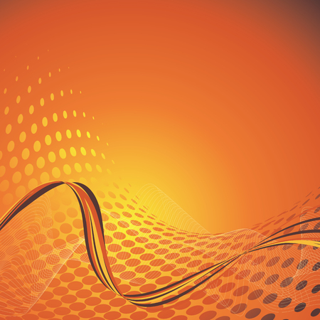 orange business background with copy space, vector illustration