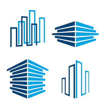 set of building icons, vector illustration Illustration