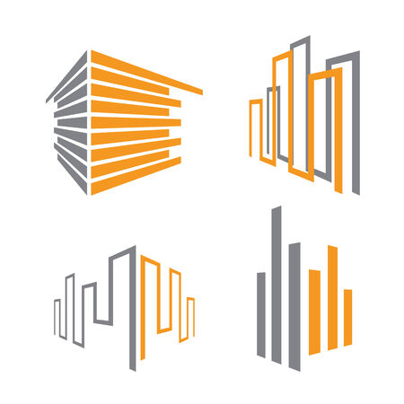 corporate building: set of building icons, vector illustration Illustration