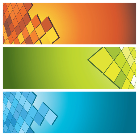 colorful banners (headers), vector illustration Stock Vector - 5034132
