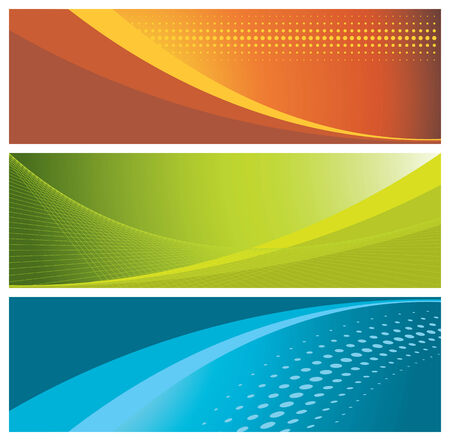 colorful banners (headers), vector illustration
