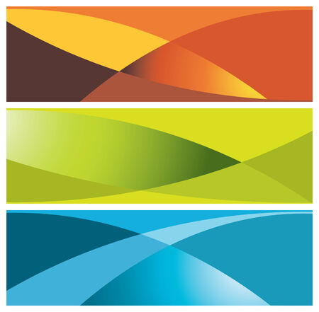 colorful banners (headers), vector illustration Vector