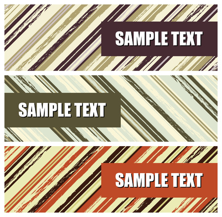 grunge stripes banners, vector illustration Stock Vector - 5053814