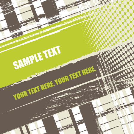 grunge stripes background with copy space, vector illustration Vector