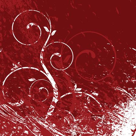 grunge floral background, vector illustration Vector