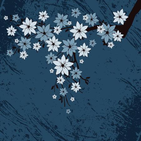 grunge floral background, vector illustration Stock Vector - 5301510