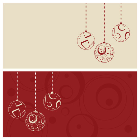 christmas card set, vector illustration Stock Vector - 5581951