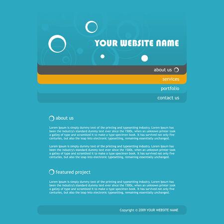 elegant website template, vector illustration Vector