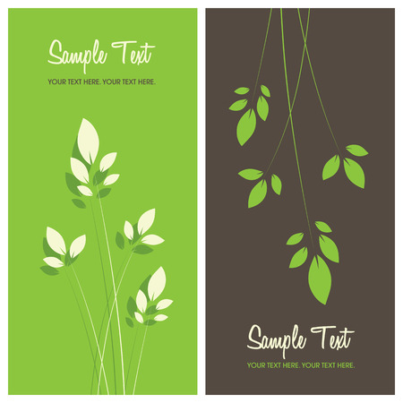 floral background with copy space, vector illustration Vector