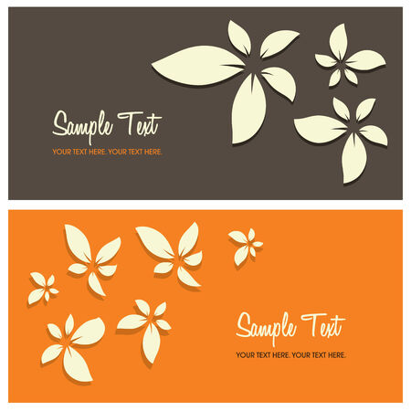 copy: floral background with copy space, vector illustration