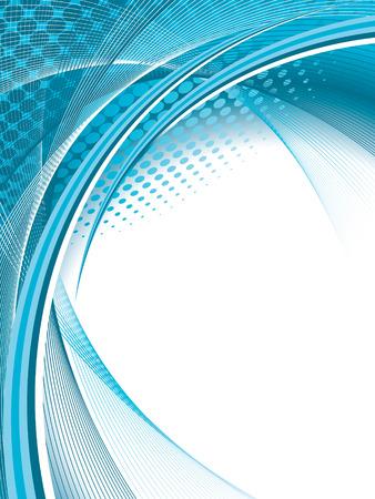 lineas onduladas: conocimiento de los negocios resumen, la ilustraci�n Vectores