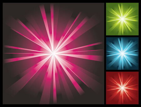 abstract lights background with sunburst, vector illustration Vector