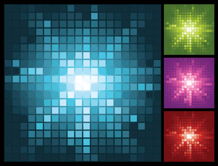 abstract lights background with mosaic sunburst, vector illustration Vector