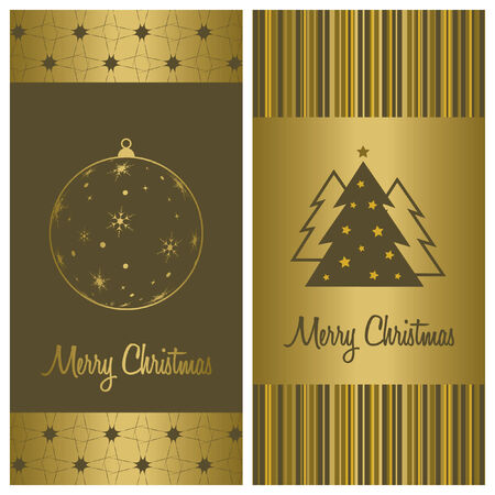 christmas card background set, vector illustration Çizim