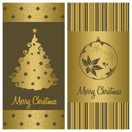 christmas card background set, vector illustration Stock Vector - 5795918
