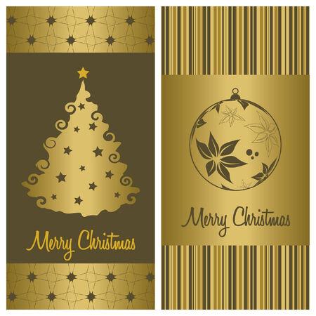 christmas card background set, vector illustration Vector