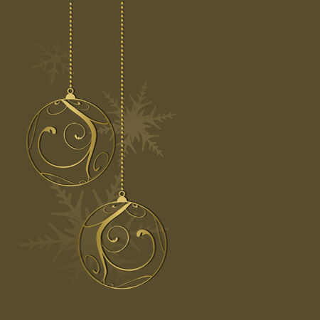 christmas card background, vector illustration Çizim