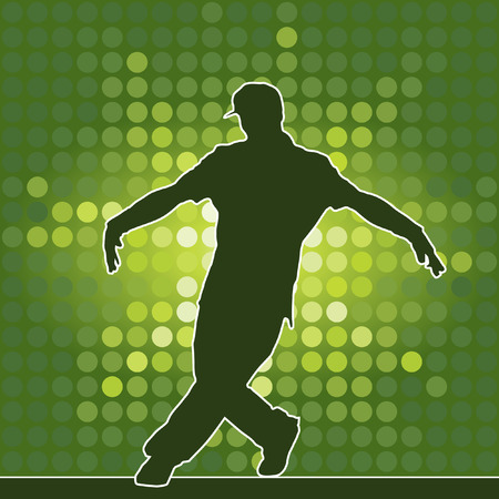 dancing silhouette, breakdance, vector illustration Vector