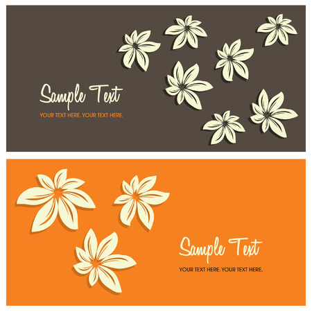 orange blossom: floral card background with copy space, vector illustration