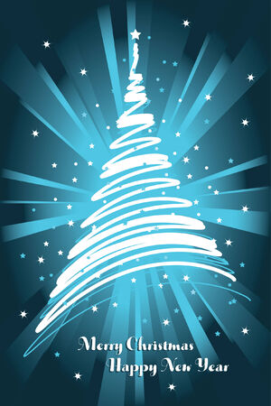 blue christmas card background Vector
