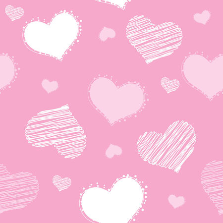 seamless pattern with hearts, vector illustration Vector