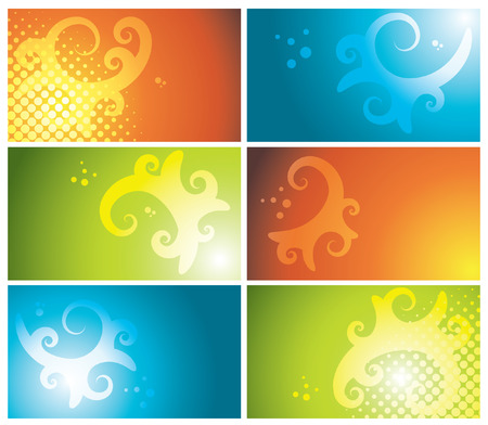 set of colorful business cards, vector illustration Stock Vector - 6089360
