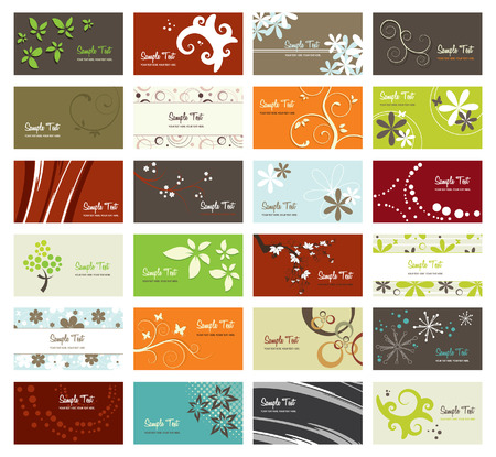 set of elegant business cards, vector illustration