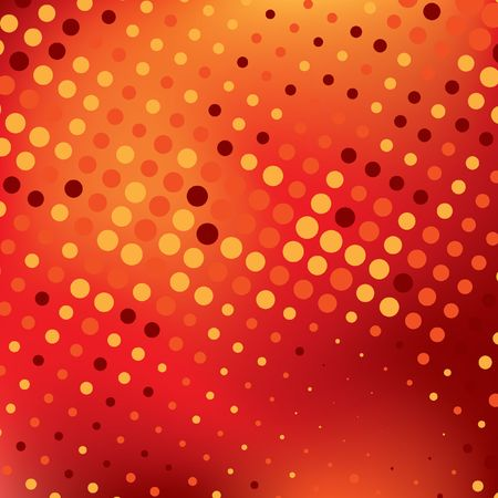 red abstract background with colorful dots, illustration
