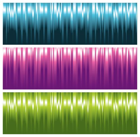 colorful striped banners, illustration Vector