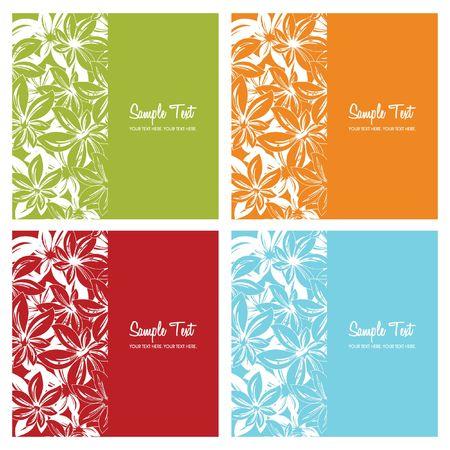 floral card backgrounds,  illustration Illustration