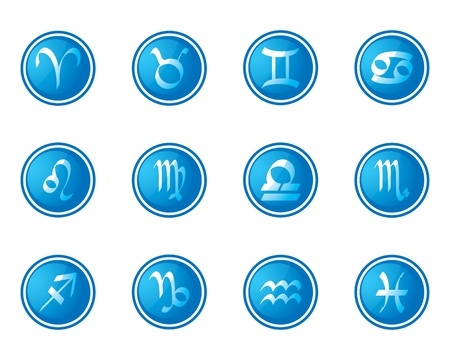 horoscope zodiac signs, set of icons Vector