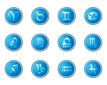 horoscope zodiac signs, set of icons Vector